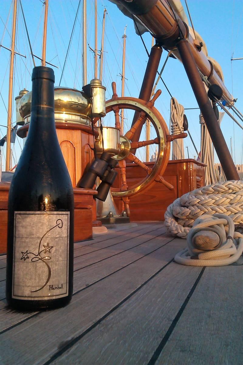 Les vins HERBEL sur le Bateau de Christian Penneau